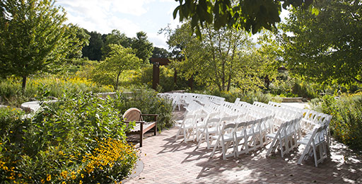 outdoor wedding planning with venues, guest chairs and aisle