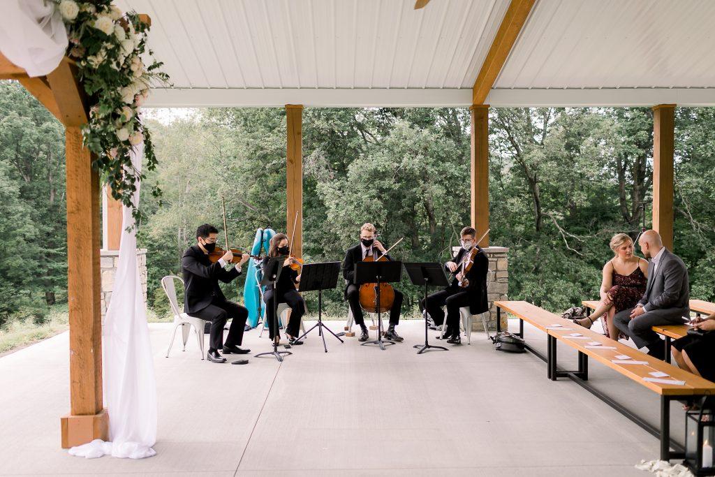 Sarah Nungester outdoor wedding string quartet meghanpremuda