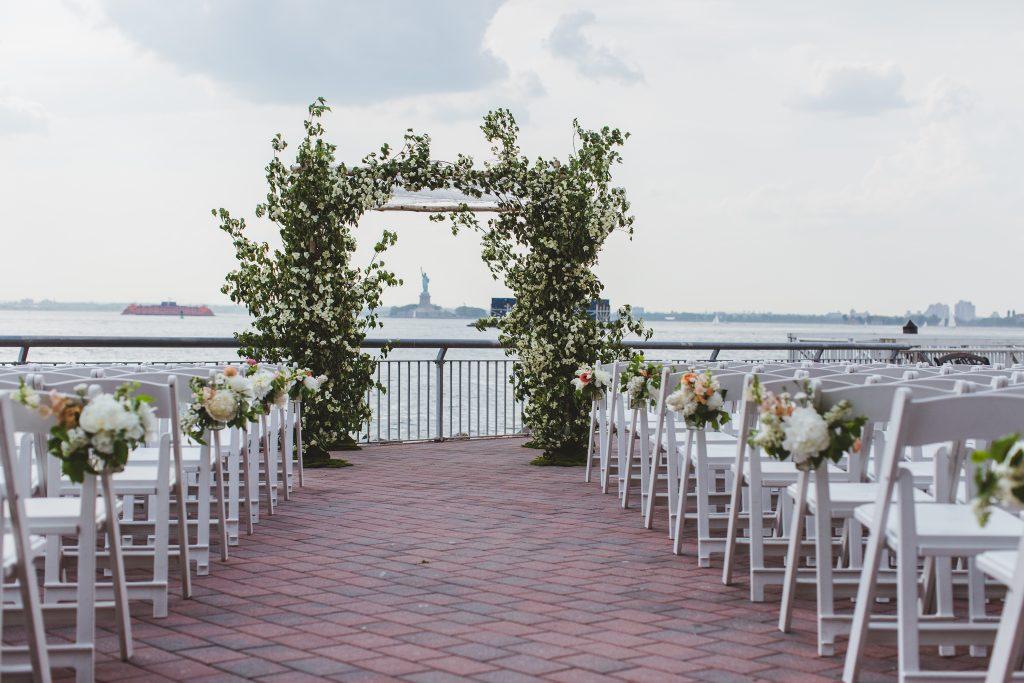 best outdoor wedding planning with flower arches