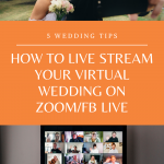 couple live streaming their virtual wedding on zoom fb live