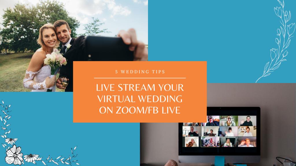 how to plan virtual live stream online wedding