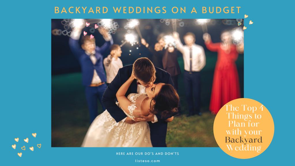 backyard wedding on a budget blog