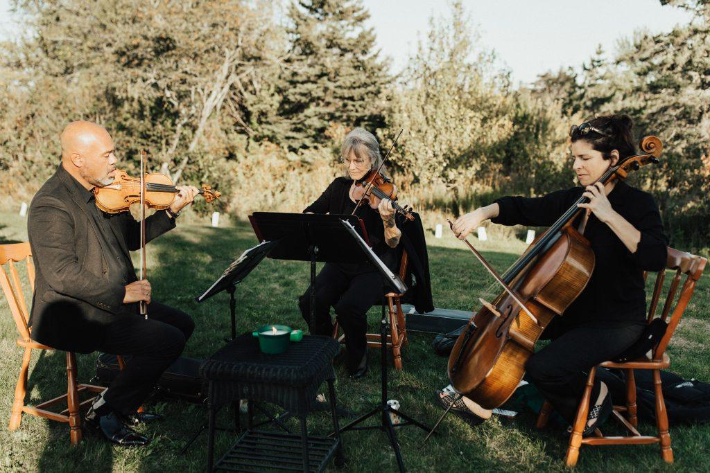 backyard wedding planning wedding string quartet