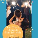 top things planning backyard wedding