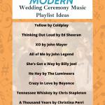 top modern wedding ceremony music song playlist ideas